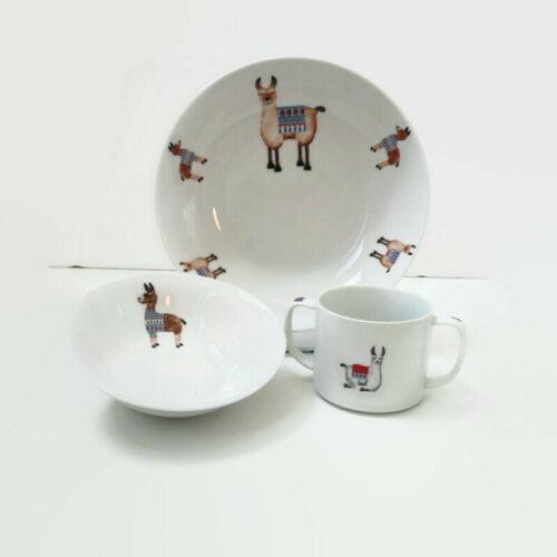 assiette et mug pour enfant le petit lama