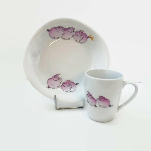 assiette et mug personnalisable pour enfant